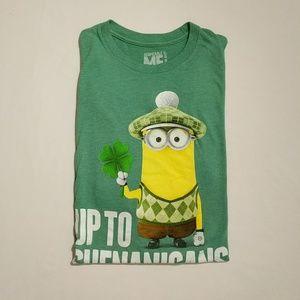 Minion Men's T-shirt Up To Shenanigans XL